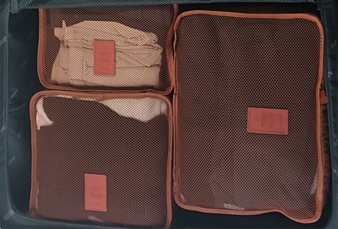 Try packing with packing cubes!
